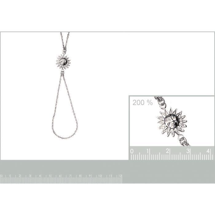 bracelet chaine de main soleil 18cm en argent 925° 820130