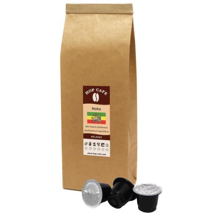 Hop Caf̩ Р10 Capsules de Caf̩ pour Nespresso РM̩lange Moka d ...