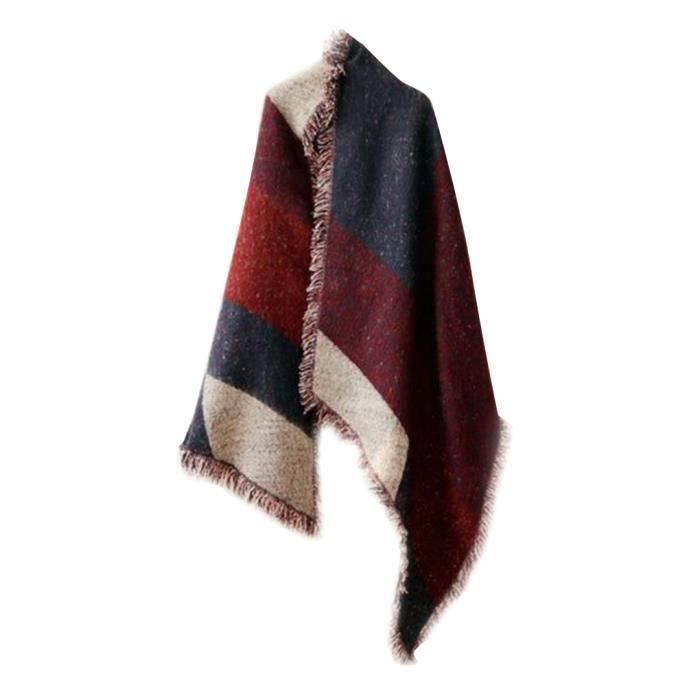 Épais de hiver nouvelles femmes laine chaude Stole Pashmina Écharpes  Cachemire Wraps Châle Violet 7bd42ef1198