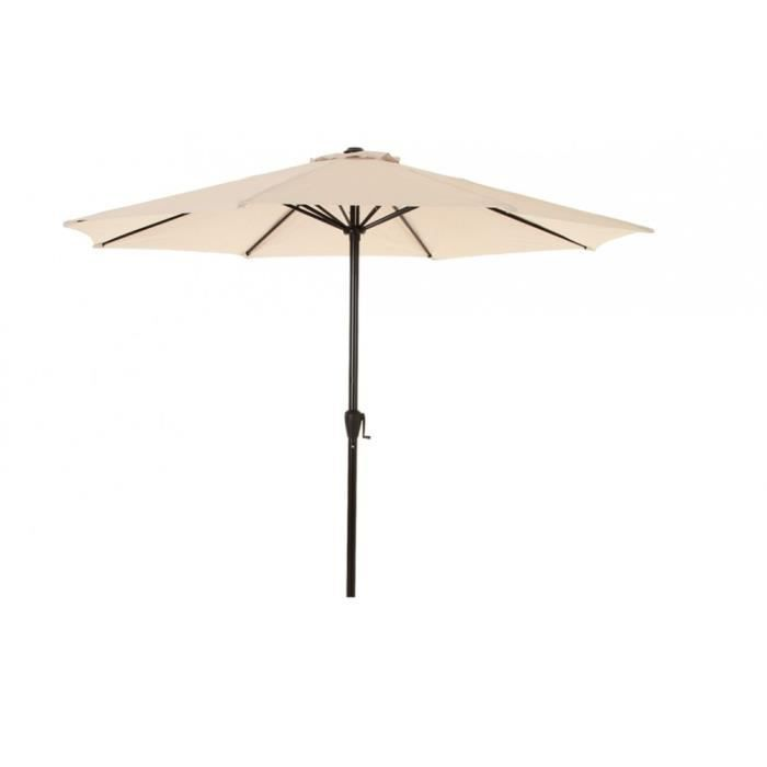 PARASOL FIDJI ROND 3M HESPERIDE SABLE   Achat / Vente parasol