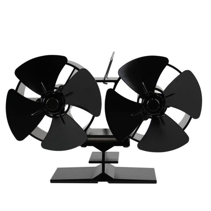 ventilateur pour po le bois chemin e 4 lames de chaleur. Black Bedroom Furniture Sets. Home Design Ideas
