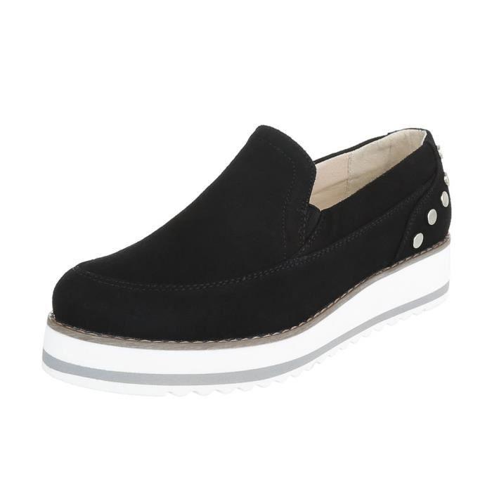 Chaussures femme flâneurs mocassin noir 40