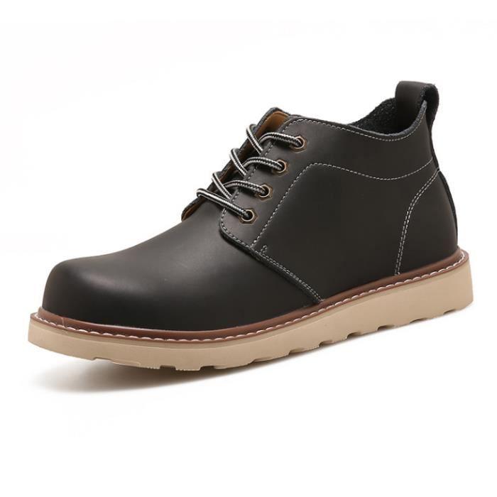 bottines - low boots Cuir nouvelles Talons hauts bottes de mode Homme jyx712 jdM6en