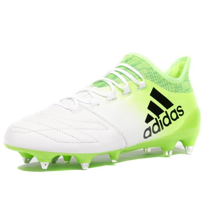 brand new f16dc aa11f X 16.1 SG Leather SG Homme Chaussures Football Blanc Adidas