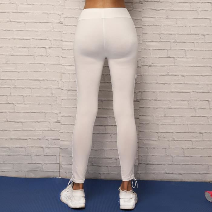 ... Legging femmes XXL80514493WH blanc. PANTALON DE SPORT EXQUISGIFT  Bandage Sport Yoga Pantalons Fitness 8e0a315d22b