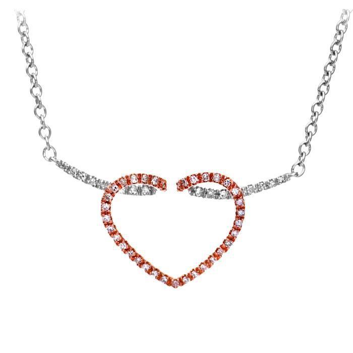 Revoni - Collier en or blanc 9 carats et diamants - REVCDPNE01516W