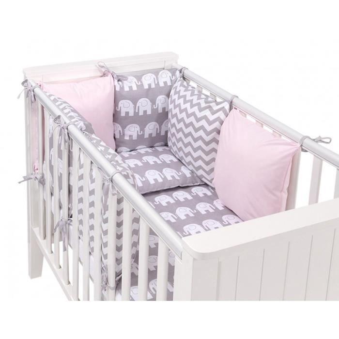 tour de lit coussin achat vente tour de lit coussin pas cher cdiscount. Black Bedroom Furniture Sets. Home Design Ideas