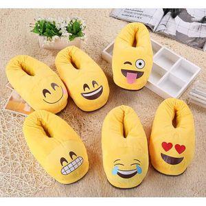 LADUU Love 36-37 Unisexe Emoji Pantoufle Confortable Anti-dérapant Semelle Souple Hiver Chaussures D'intérieur PgbEIOLfaR