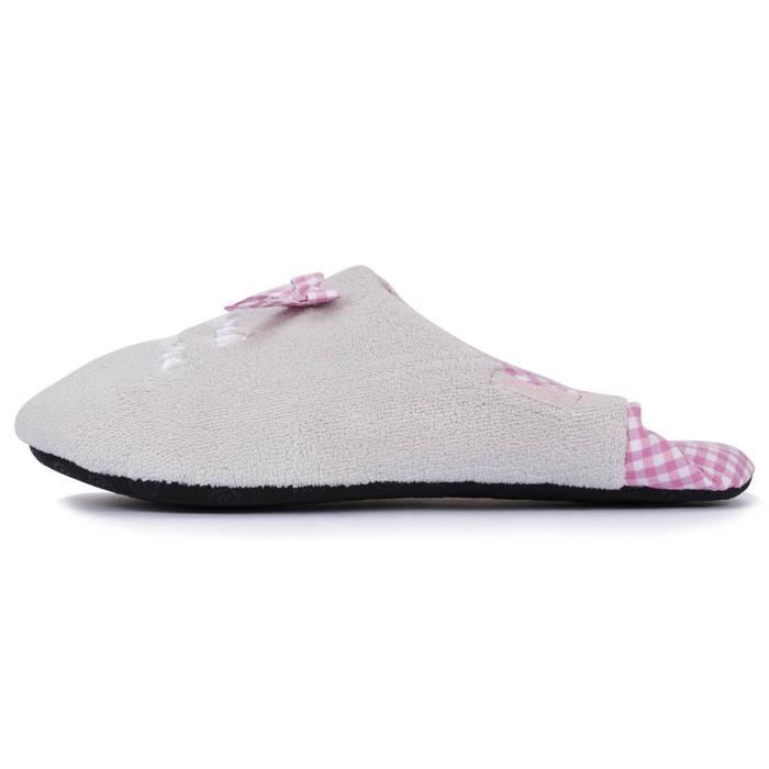 Chaussons babouches femme vichy