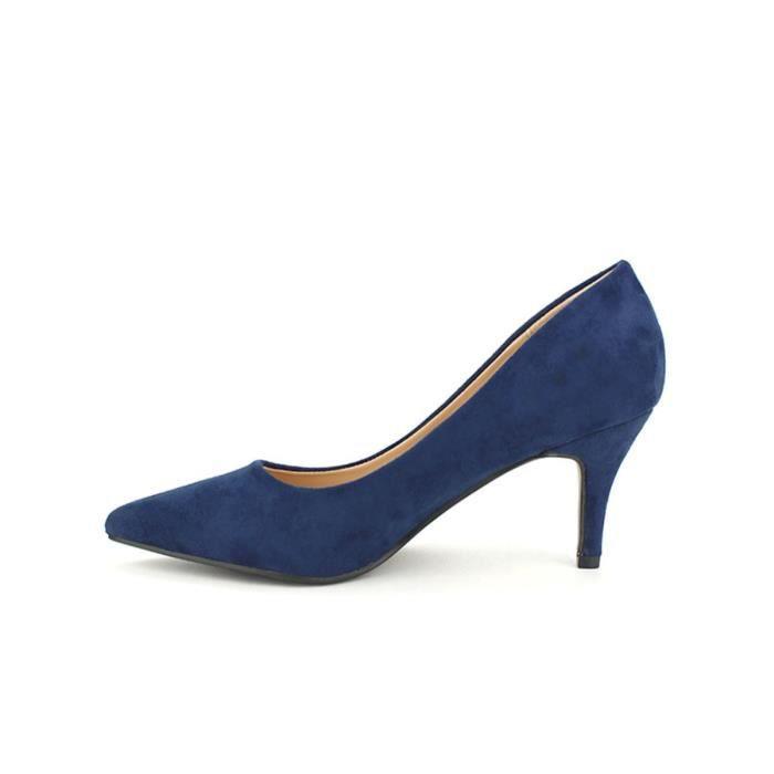 escarpin, Escarpins Bleu Chaussures Femme, Cendriyon