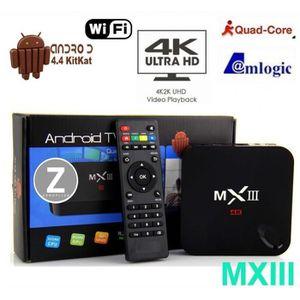Quad Core Amlogic S802 Cortex A9 1 Go/8 Go 4.4 Android TV Box Wifi 4K film en 3D pris en charge le lecteur multimédia permettant