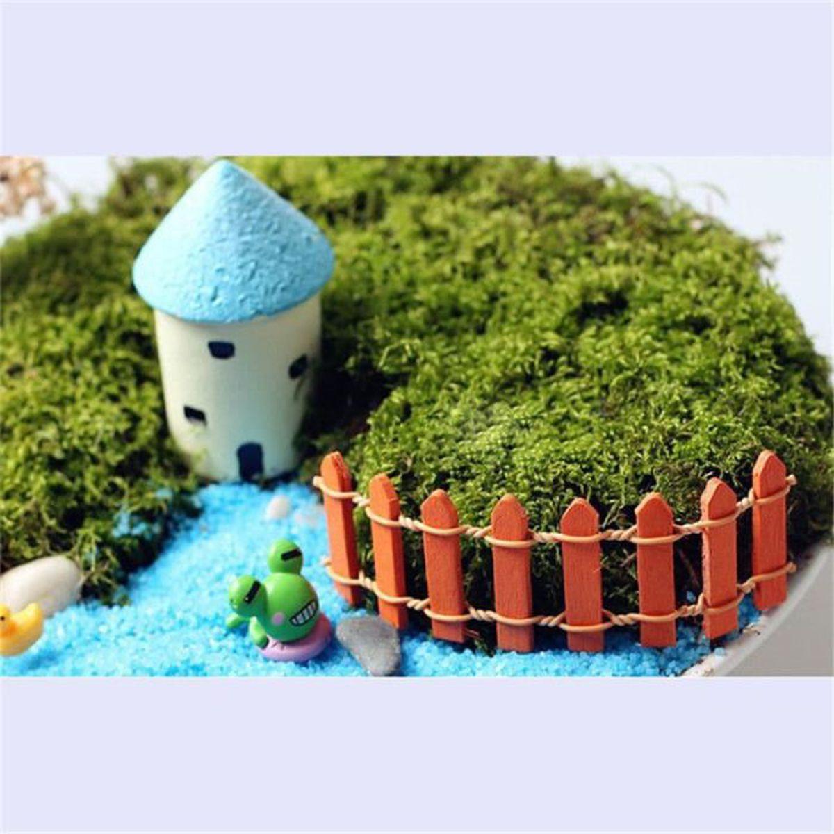 10 x en bois cl ture f e jardin miniature paysage mini for Accessoires decoratifs maison