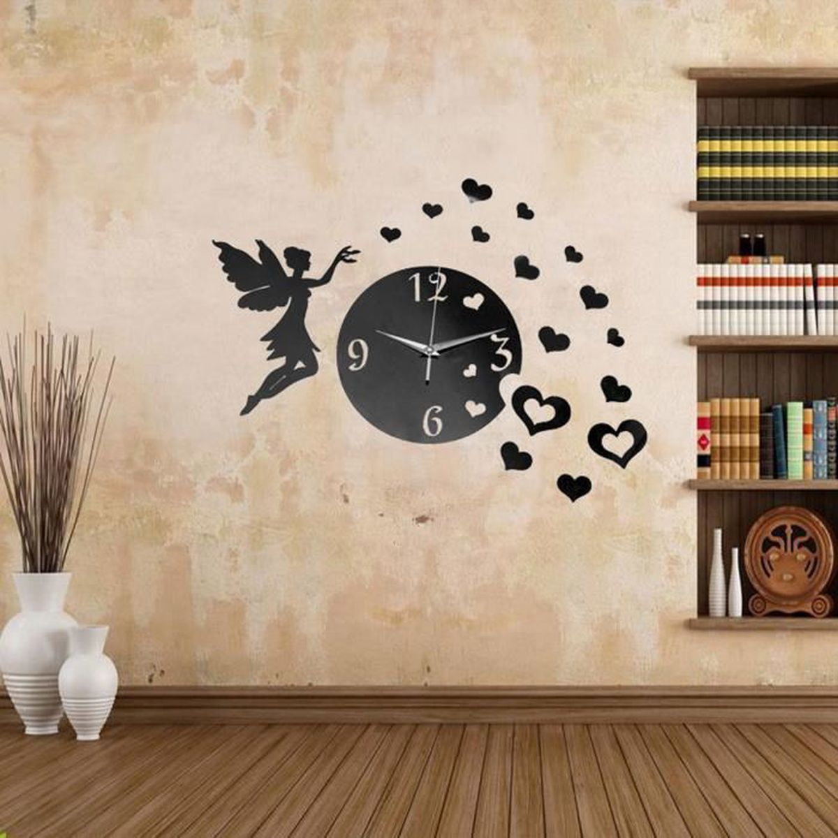 tempsa diy 3d horloge murale moderne design miroir pr. Black Bedroom Furniture Sets. Home Design Ideas