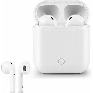 CASQUE - ÉCOUTEURS Écouteurs sans fil Bluetooth avec chargeur blanc