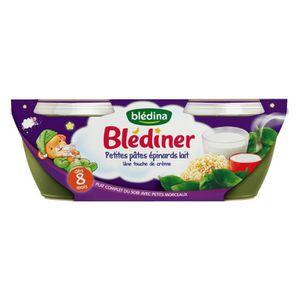 PURÉES DE LÉGUMES BLEDINA Blédîner Petits pâtes épinard lait - 2x200