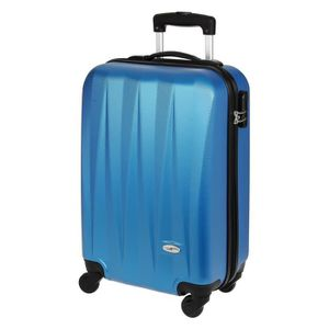 VALISE - BAGAGE CASINO Valise trolley ABS - 50cm - 4 roues - Bleu