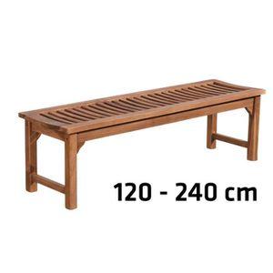 CLP Banc de jardin en bois de teck robuste HAVANA V2, sans dossier ...