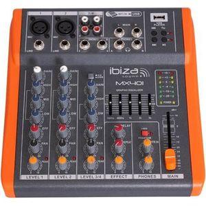 TABLE DE MIXAGE Ibiza Table de mixage à 4 canaux compacte