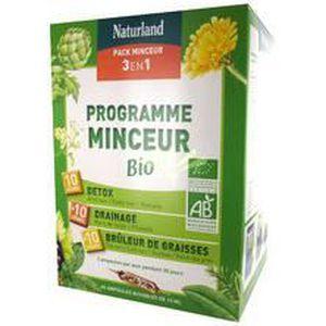 COMPLÉMENT MINCEUR Naturland - Programme Minceur Bio 3 en 1