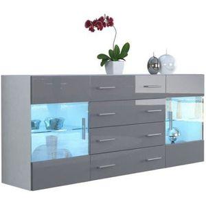 bahut blanc laque achat vente pas cher. Black Bedroom Furniture Sets. Home Design Ideas
