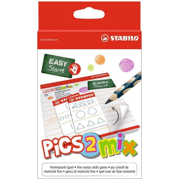 STABILO EASYgraph droitier + 1 taille-crayons + 16 cartes + 1 sablier + 1 carnet de score + 1 bloc à dessin+ 1 notice