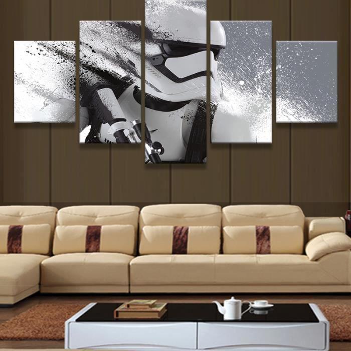pas de cadre 5 pieces star wars modulaire imprim imprim s modernes d coration pour salon. Black Bedroom Furniture Sets. Home Design Ideas