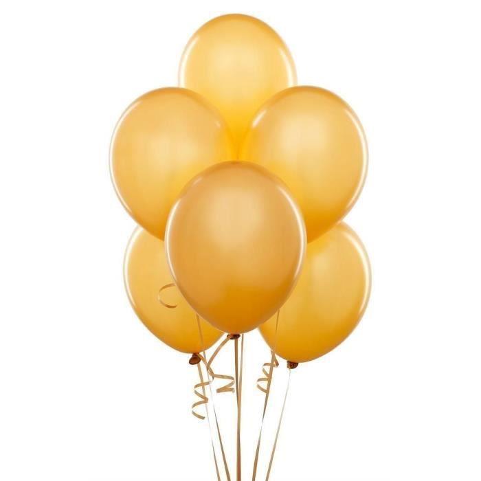 50 Pcs 12 Ballons Dor Métallique Couleur Latex Anniversaire De Célébrations De Mariage