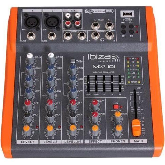 table de mixage ibiza sound