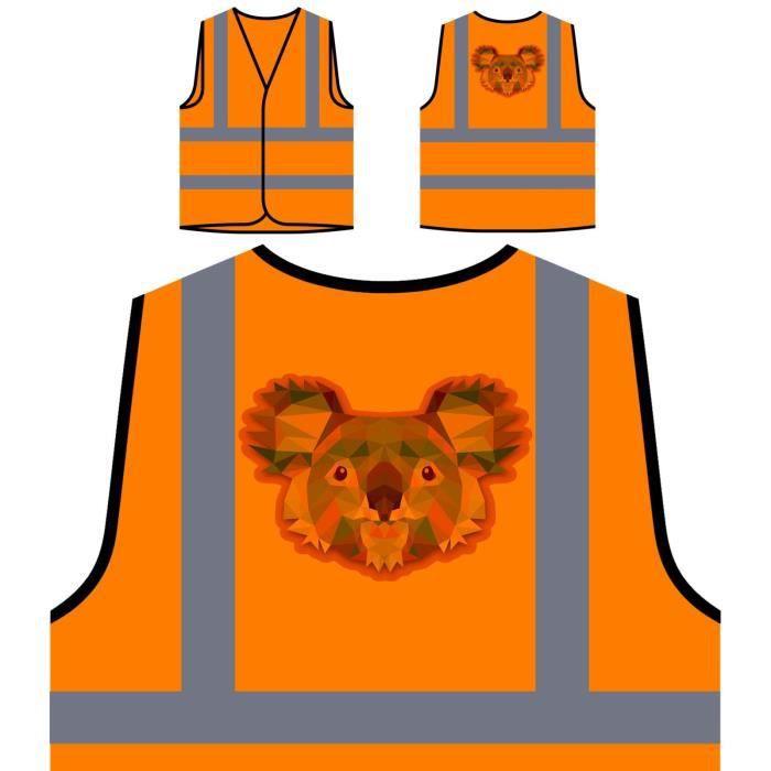 VESTE Veste de protection orange personnalisée à haute v