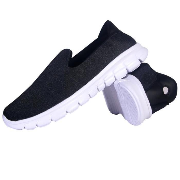 Femme Loafer Nouvelle arrivee Beau Classique Loafers Léger Doux Meilleure Qualité Loisirs Chaussure Simple Cool Noir 42
