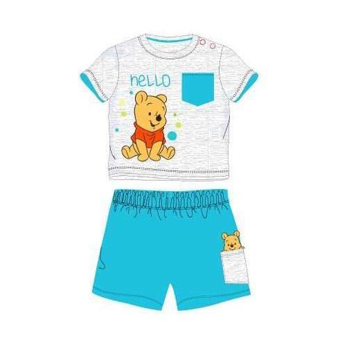 adaa6f3511bb6 Ensemble bébé WINNIE L'OURSON disney short + t-shirt turquoise ...
