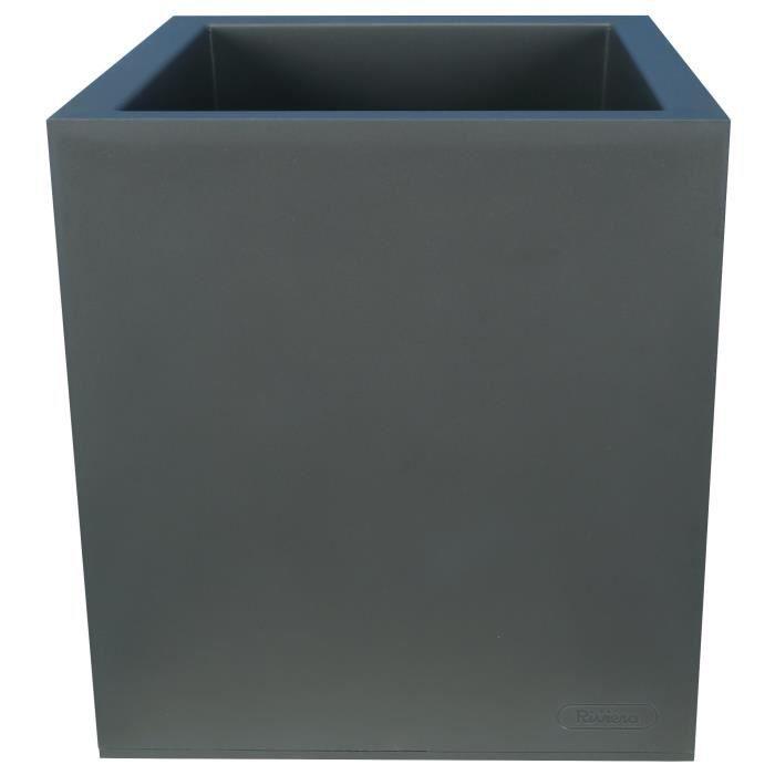 JARDINIÈRE - POT FLEUR  RIVIERA Bac à rétention d'eau La Box - 40 x 40 cm