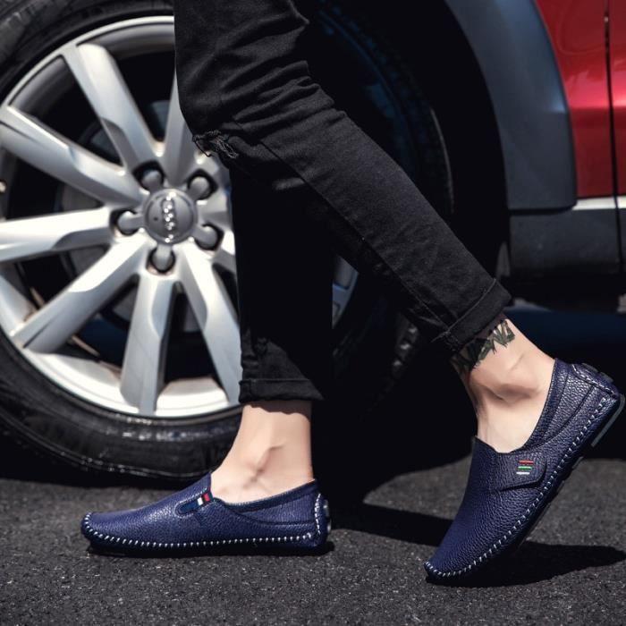 chaussure multisport pour Hommeblanc 10 Soft et des appartements confortables Chaussures Chaussures de mariage conduit_1783 isA84