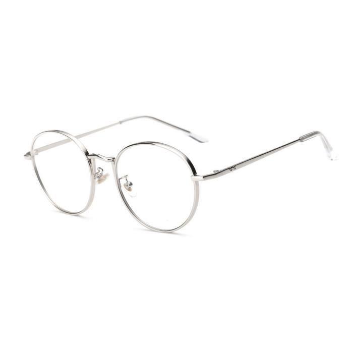 cd-8845 Hommes Femmes Lunettes lentilles claires lunettes métalFrame Myopie Lunettes Lunettes argent