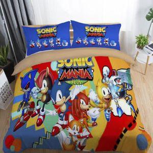 PARURE DE DRAP Sonic Mania Parure de lit 2 pièces de Marque -1 Ho