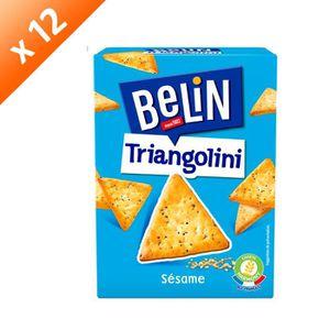 BISCUITS APÉRITIF Belin Crackers Triangolini Pavot Sésame 100g - LOT