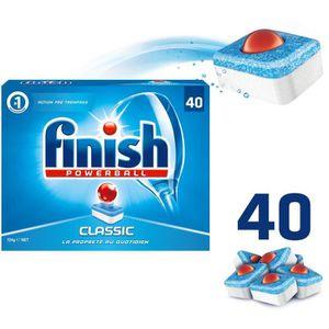 LIQUIDE LAVE-VAISSELLE FINISH A74 Paquet de 40 tablettes pour lave-vaisse
