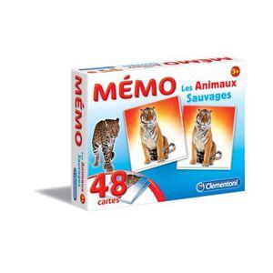 MÉMORY CLEMENTONI Memo Les animaux sauvages