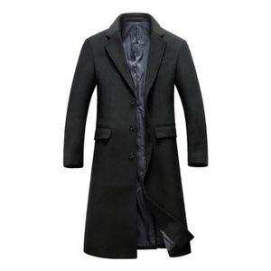 Caban Homme Duffle Manteau Pardessus En Longu Coat Laine dWHW8x5