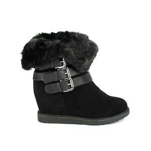 BOTTINE bottine - boots, Bottines Noir Chaussures Femme, C