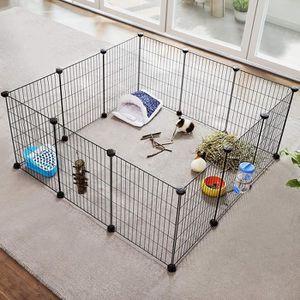 CAGE SONGMICS Enclos modulable Cage intérieur Maillet e