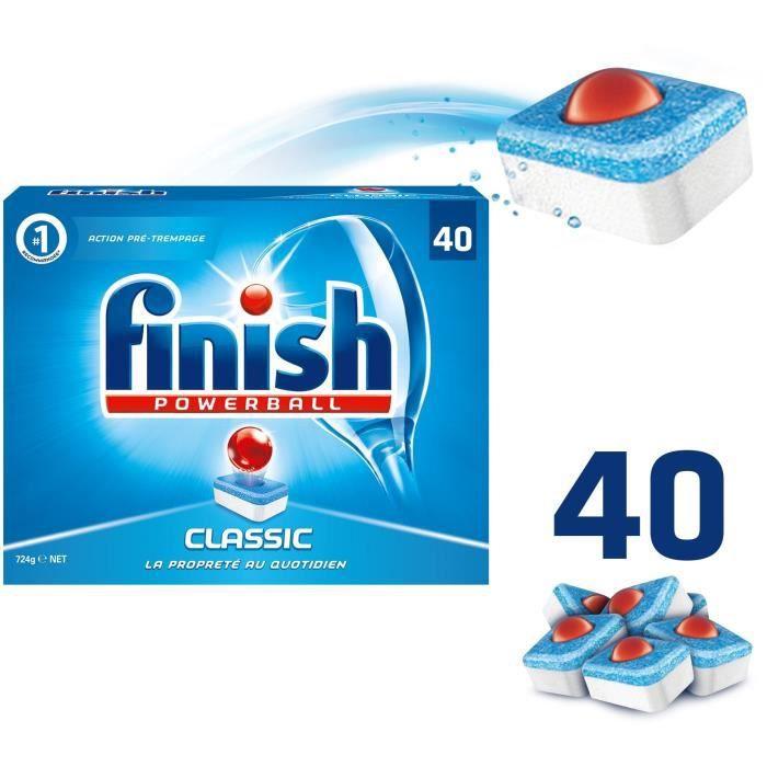 FINISH A74 Paquet de 40 tablettes pour lave-vaisselle - Powerball Classic