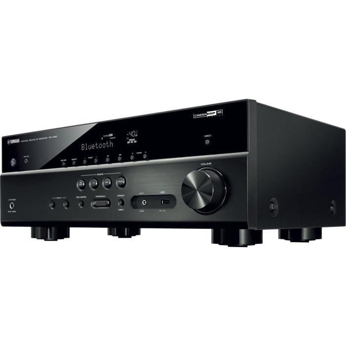 YAMAHA RX-V483 Ampli Home-Cinéma 5.2 compatible MusicCast - Noir