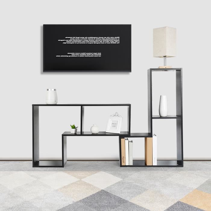 Table Basse Bibliotheque Meuble Tv Multifonctionnel