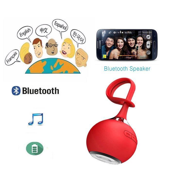 Enceinte Balle Sport Portable En Forme Étanche À La Poussière Mini Parleur Sans Fil Bluetooth @bat7153