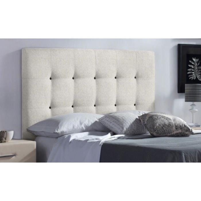 T te de lit fabric couleur tissu beige mesure lit de 120 cm de large achat vente t te - Tete de lit 120 cm de large ...