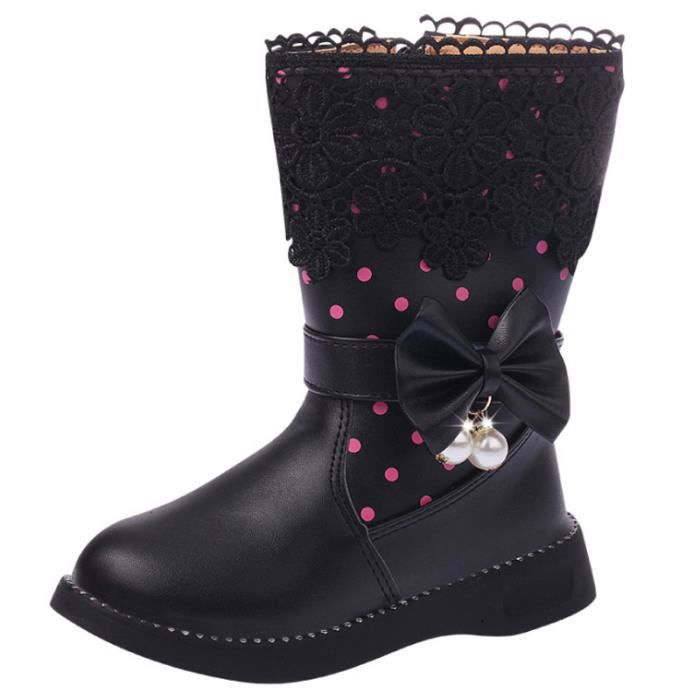 femme 27 velours chaussures haute enfant neige antidérapant chaussures chaud Bottes 37 bottes occasionnels isolation taille dRqYBfy1O