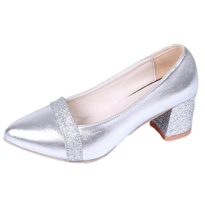 Mode élégant à talons hauts Chaussures pointues Chaussures de mariage Femmes Chaussures @SL Zy4baN6IyL