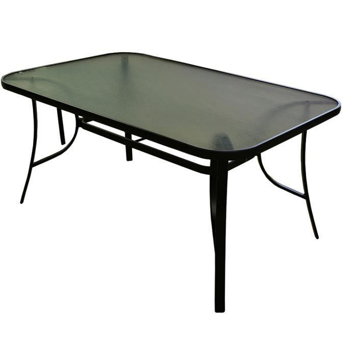 Table de jardin avec plateau en verre - Achat / Vente pas cher