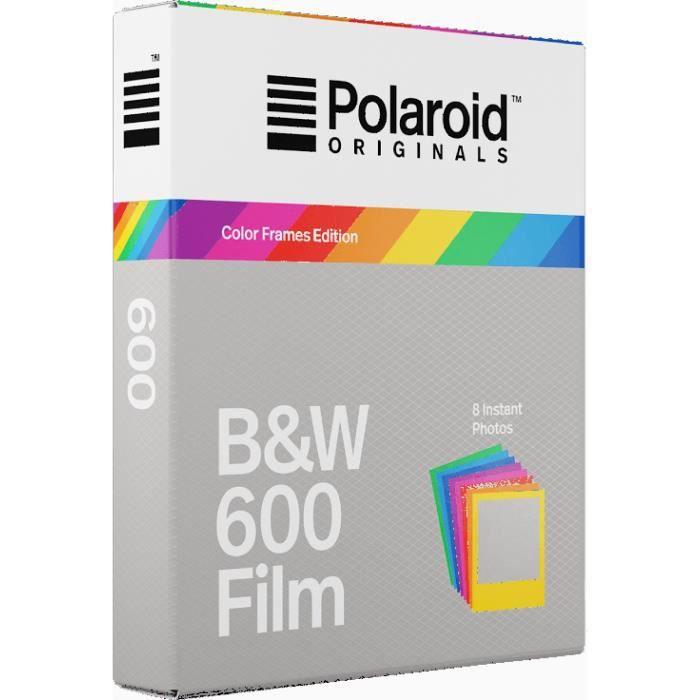 POLAROID ORIGINALS Films instantanés noir et blanc avec cadres couleurs  pour appareil photo Polaroid 600 7e23662fb095